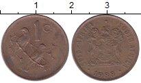 Изображение Дешевые монеты ЮАР 1 цент 1988 Бронза VF-