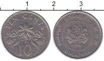 Изображение Дешевые монеты Сингапур 10 центов 1986 Медно-никель XF-
