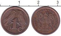 Изображение Барахолка ЮАР 1 цент 1992 сталь с медным покрытием VF