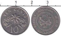 Изображение Дешевые монеты Сингапур 10 центов 1988 Медно-никель VF