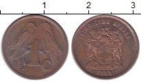 Изображение Барахолка ЮАР 1 цент 1996 Бронза VF-