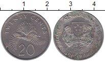 Изображение Барахолка Сингапур 20 центов 1990 Медно-никель VF
