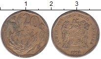 Изображение Дешевые монеты ЮАР 20 центов 1994 Бронза VG