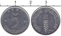 Изображение Барахолка Франция 5 сентим 1961 Медно-никель XF