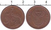 Изображение Барахолка ЮАР 5 центов 2007 Латунь XF-