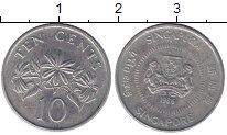 Изображение Дешевые монеты Сингапур 10 центов 1986 Медно-никель VF