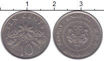 Изображение Дешевые монеты Сингапур 10 центов 1985 Медно-никель XF-