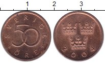 Изображение Дешевые монеты Швеция 50 эре 2004 Медь UNC-