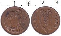 Изображение Дешевые монеты Ирландия 1 пенни 1980 Медь XF