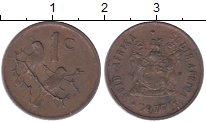 Изображение Дешевые монеты ЮАР 1 цент 1977 Бронза VF-