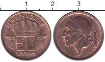 Изображение Дешевые монеты Бельгия 50 сентим 1982 Медь XF+