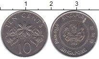 Изображение Дешевые монеты Сингапур 10 центов 1986 Медно-никель XF