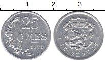 Изображение Дешевые монеты Люксембург 25 сентим 1972 Медно-никель XF-