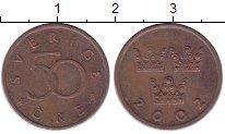 Изображение Дешевые монеты Швеция 50 эре 2002 Медь VF