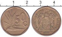 Изображение Дешевые монеты ЮАР 50 центов 1991 Бронза VF