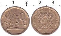Изображение Дешевые монеты ЮАР 50 центов 1992 Бронза XF