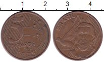 Изображение Дешевые монеты Бразилия 5 сентаво 2002 Медь XF-