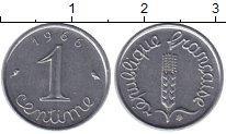 Изображение Барахолка Франция 1 сентим 1966 Медно-никель XF+