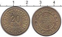 Изображение Барахолка Тунис 20 миллим 1960 Латунь VF
