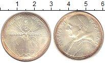 Изображение Монеты Ватикан 500 лир 1968 Серебро UNC-
