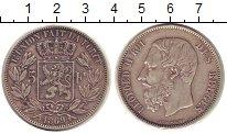 Изображение Монеты Бельгия 5 франков 1869 Серебро XF
