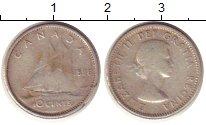 Изображение Монеты Канада 10 центов 1956 Серебро XF-