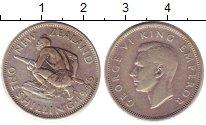 Изображение Монеты Новая Зеландия 1 шиллинг 1946 Серебро XF-