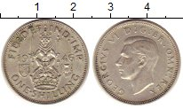 Изображение Монеты Великобритания 1 шиллинг 1946 Серебро XF Георг VI.  Шотландск