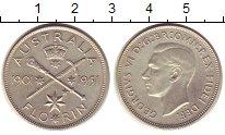 Изображение Монеты Австралия 1 флорин 1951 Серебро XF 50 - летие  Георга V