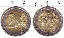 Изображение Монеты Италия 2 евро 2016 Биметалл UNC