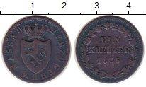 Изображение Монеты Нассау 1 крейцер 1855 Медь XF- Герб