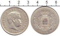 Изображение Монеты Португалия 500 рейс 1899 Серебро XF