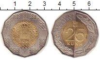 Изображение Монеты Хорватия 25 кун 2016 Биметалл UNC