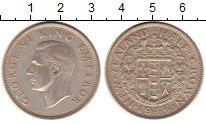 Изображение Монеты Новая Зеландия 1/2 кроны 1946 Серебро XF