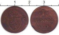 Изображение Монеты Гессен-Дармштадт 1 пфенниг 1819 Медь XF- Людвиг X