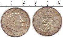 Изображение Монеты Нидерланды 1 гульден 1965 Серебро XF