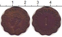 Изображение Монеты Кипр 1 пиастр 1942 Бронза XF-