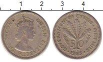 Изображение Монеты Кипр 50 милс 1955 Медно-никель XF Елизавета II.  Флора