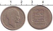Изображение Монеты Алжир 20 франков 1956 Медно-никель XF
