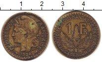 Изображение Монеты Камерун 1 франк 1924 Латунь XF- Французская колония