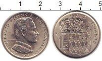 Изображение Монеты Монако 1 франк 1974 Медно-никель UNC Ренье III - Принц  М