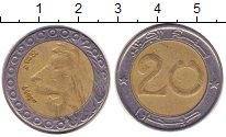 Изображение Монеты Алжир 20 сантимов 2009 Биметалл XF