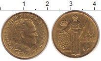 Изображение Монеты Монако 10 сантимов 1975 Латунь XF