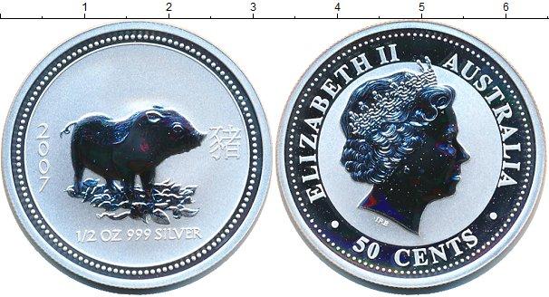 Картинка Монеты Австралия 50 центов Серебро 2007