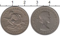 Изображение Монеты Новая Зеландия 1 шиллинг 1958 Медно-никель XF