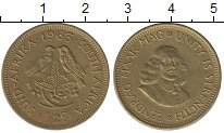 Изображение Монеты ЮАР 1/2 цента 1963 Латунь XF+