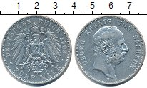 Изображение Монеты Саксония 5 марок 1903 Серебро XF Георг