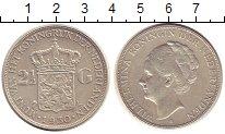 Изображение Монеты Нидерланды 2 1/2 гульдена 1930 Серебро XF