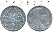 Изображение Монеты Латвия 5 лат 1931 Серебро XF
