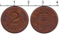 Изображение Монеты Латвия 2 сантима 1939 Бронза XF